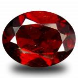 * Piatra naturala Granat Spessartin rosu - portocaliu - 4.01 ct - certificat