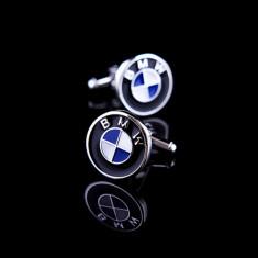 Butoni tema auto BMW metalici + cutie simpla cadou