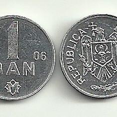 MOLDOVA 1 BAN 2006 [1] a UNC UNC, livrare in cartonas, Europa, Aluminiu