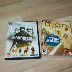 JOCURI PC - COMPANY OF HEROES - ORIGINAL ! 2 DISC + CIVCITY ROME - Joc PC, Strategie, 18+