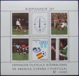 ARGENTINA 1981 - FOTBAL 4 VALORI SI 2 VIGNETE  IN M/SH , NEOBLITERATE - E2574