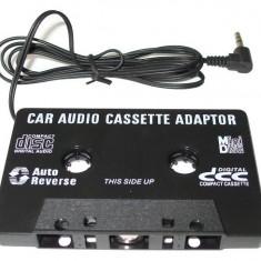 CASETA ADAPTOARE AUTO CU MUFA JACK PENTRU CASETOFON, MP3,TELEFON,DVD,