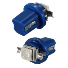 Bec T5 B8.5D LED SMD5050 Alb Pur/Albastru/Rosu/Verde pentru bord, console auto - Led auto EuropeAsia, Universal
