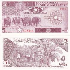 SOMALIA 5 shillings 1987 UNC!!! - bancnota africa
