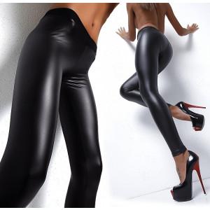 Colanti piele latex PU pantaloni luciosi wet look piele skinny