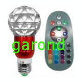 Bec cu led RGB, 3W, dulie E27, 220V - cu telecomanda/6660, Becuri LED