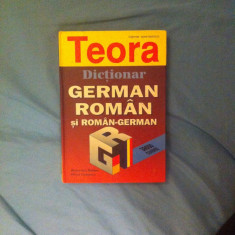 Dictionar German-Roman si Roman-German (38.000 cuvinte) teora