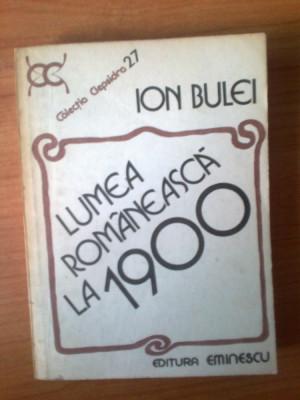 n5  Ion Bulei - Lumea romaneasca la 1900 foto