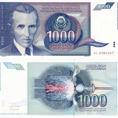 IUGOSLAVIA 1.000 dinara 1991 UNC!!! - bancnota europa