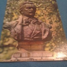 CP BOTOSANI BUSTUL LUI MIHAI EMINESCU NECIRCULATA - Carte Postala Bucovina dupa 1918