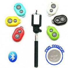 Selfie stick prelungitor pt telefon camere bluetooth wireless + telecomanda
