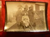 Fotografie- Militari in fata casei-  Primul Razboi Mondial