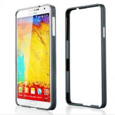 Husa bumper gri din aluminiu Samsung Galaxy Note 3 N9000 - Bumper Telefon