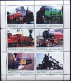 ANGOLA  2000 - LOCOMOTIVE, 1 M/SH NEOBLITERATA, POSTA PRIVATA - PP 240