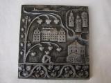 Placheta din aluminiu, decorata in basorelief, Ornamentale