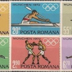 Romania 1972, Preolimpiada Munchen, LP 787, nestampilate - Timbru Romania dupa 1900