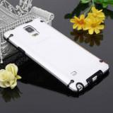 Husa plastic transparenta bumper Samsung Galaxy Note 4 N910 + folie ecran, Negru