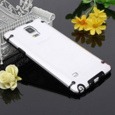 Husa plastic transparenta bumper Samsung Galaxy Note 4 N910 + folie ecran