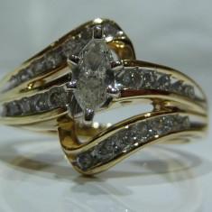 Inel logodna cu diamante aur 14k - Inel de logodna