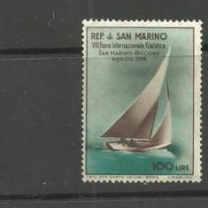 SAN MARINO 1956 - SPORT NAUTIC CU VELE, timbru  nestampilat T70