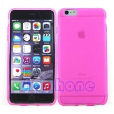 "Husa silicon roz subtire Iphone 6 4,7"" + folie protectie ecran + expediere gratuita Posta"