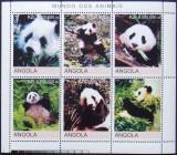 ANGOLA  2000 - URSI PANDA, 1 M/SH NEOBLITERATA, POSTA PRIVATA - PP 248