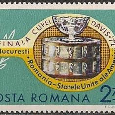 Romania 1972, Finala Cupei Davis, LP 809, nestampilat - Timbre Romania