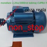 Motor electric 2,2 KW/3000Rot - motoare 2,2kw Bobinaj Cupru ,motor moara cereale
