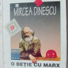 MIRCEA DINESCU - O BETIE CU MARX (VERSURI, editia princeps - 1996) [coperta: DAN ERCEANU] - Carte poezie