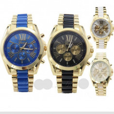 Ceas GENEVA GOLD Impressive Model 2019 Negru, Albastru, Verde, Maro, Alb