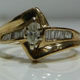 Inel logodna aur alb 14k cu diamante 0.30ctw (zeci de modele noi)