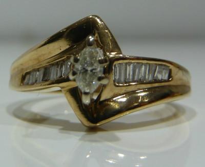 Inel logodna aur alb 14k cu diamante 0.30ctw (zeci de modele noi) foto