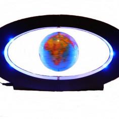 GLOB LEVITRON CE LEVITEAZA IN JURUL AXEI SALE, POSTAMENT CU ILUMINARE LED, GADGET SENZATIONAL.