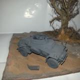 + Macheta 1/35 Tamiya asamblata si vopsita - German Sd.kfz 222  +