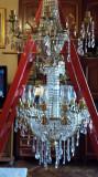Candelabru vintage cristal Bohemia cu doua aplice(set)
