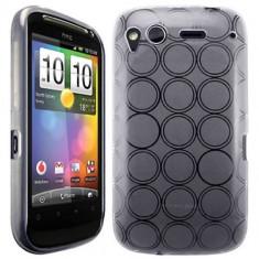 Husa silicon transparenta HTC Desire S + folie protectie ecran + expediere gratuita - Husa Telefon