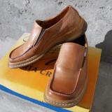 Pantofi piele Nr.40 - Pantofi barbat, Culoare: Maro, Piele naturala