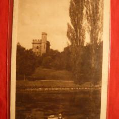Ilustrata Craiova - Parcul Bibescu - Castelul , interbelica Ed. Libr. Scoalelor, Necirculata