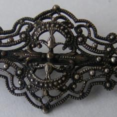 Brosa veche din argint cu filigran - de colectie (4) - Brosa argint