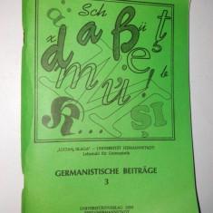 Revista de filologie germana - Universitatea Lucian Blaga - Catedra de Studii Germane - Sibiu 1995 - Curs Limba Germana