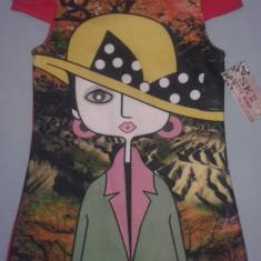 Rochite moderne cu imprimeu pentru fetite cu vârsta 4 - 12 ani. Transport gratuit! Made in Italia, Culoare: Din imagine