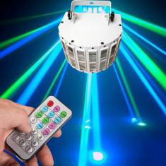 NOU 2015! SCANER LUMINI DISCO DERBY LIGHT CU LEDURI SMD SI ACTIVARE LA MUZICA CU TELECOMANDA FULL CONTROL INCLUSA.LUMINA DISCO SUPER. - Lumini club