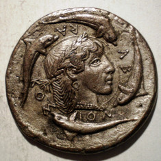 1.337 COPIE IMITATIE JETON COLECTION BP IV SYRACUSE DEMARETEION 29mm - Jetoane numismatica