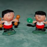 Lot 2 figurine, jucarii gimnasti, colectie, 3cm