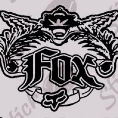 Fox_Sticker Moto_Tuning_MDEC-072-Dimensiune: 15 cm. X 12 cm. - Orice culoare, Orice dimensiune - Stikere Moto