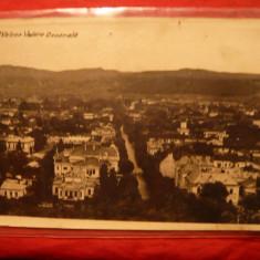 Ilustrata Ramnicu Valcea - Vedere Generala, interbelica, cenzurata - Carte Postala Muntenia dupa 1918, Circulata