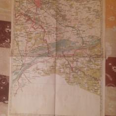 HARTA INTERBELICA - BUCURESTI-GIURGIU - NR.47