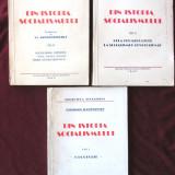 """DIN ISTORIA SOCIALISMULUI"", Vol. I + II + III, Charles Rappoport, 1945. Exemplare numerotate, Alta editura"