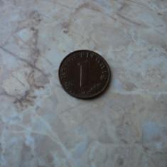 M. 1 reichspfennig 1939 J, zvastica