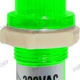 Indicator cu bec, 220V, 20x43mm, verde - 124839